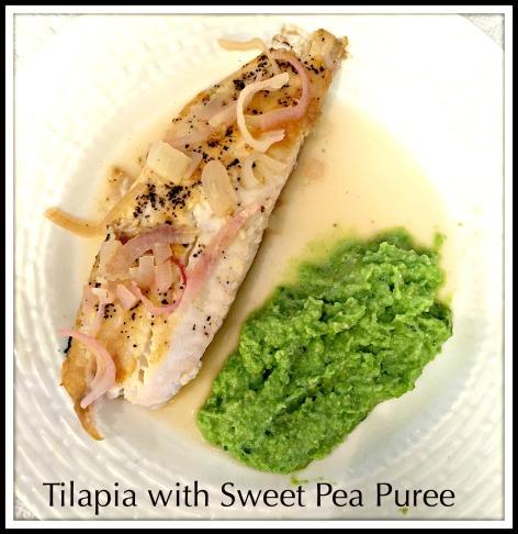 Tilapia with Sweet Pea Puree