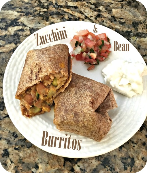 Zucchini and Bean Burritos