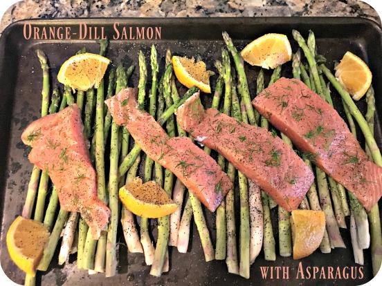 Orange Dill Salmon with Asparagus