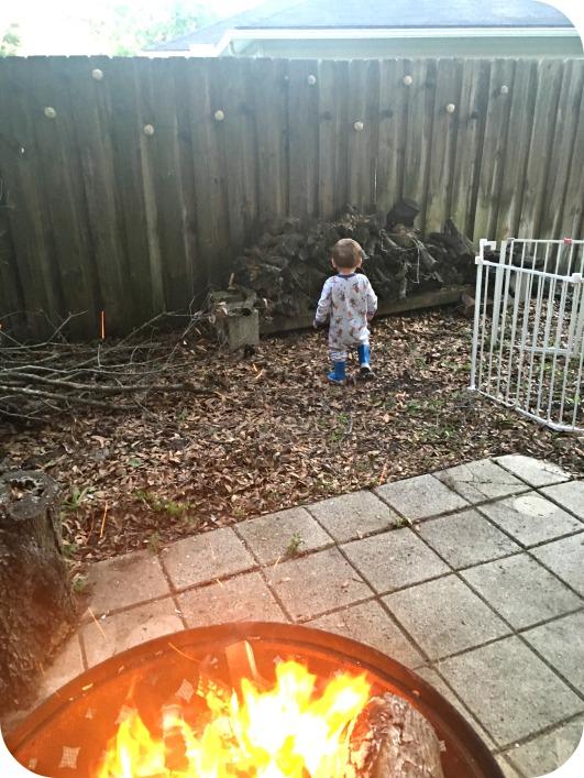 Backyard Camping Cooper Fire