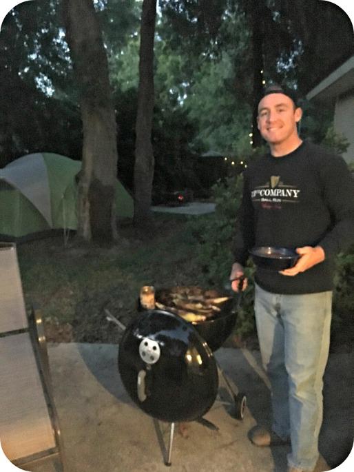 Backyard Camping Mark Grilling