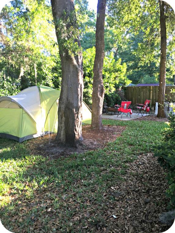 Backyard Camping Setup