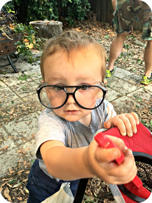 Cooper in Dad's Glasses