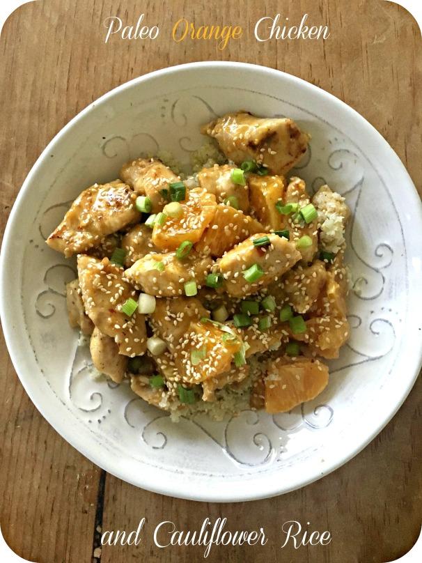 Paleo Orange Chicken and Cauliflower Rice
