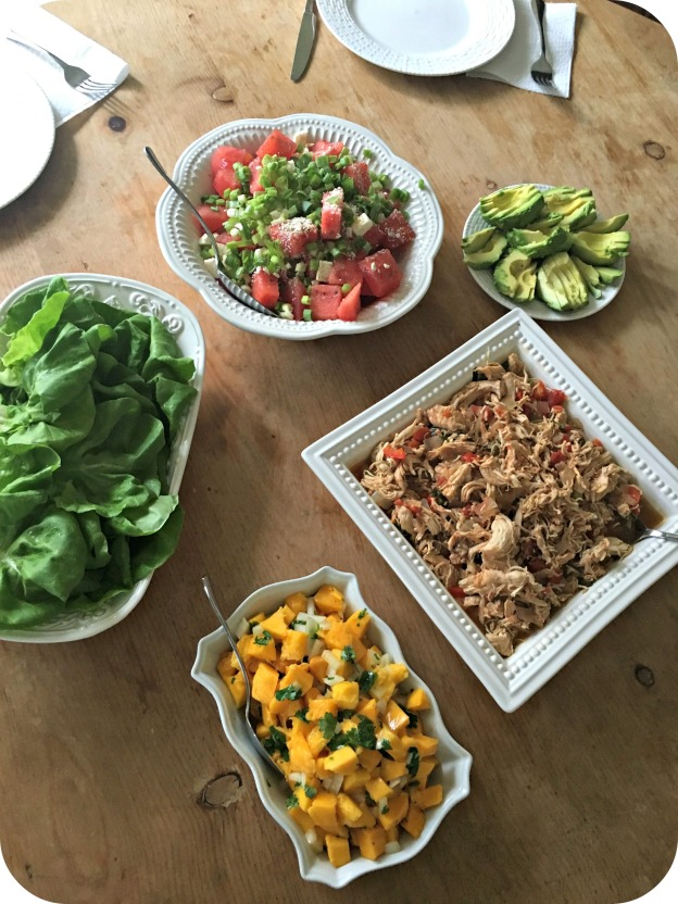 Caribbean Pulled Chicken Lettuce Wraps
