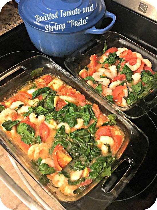 Roasted Tomato and Shrimp Pasta