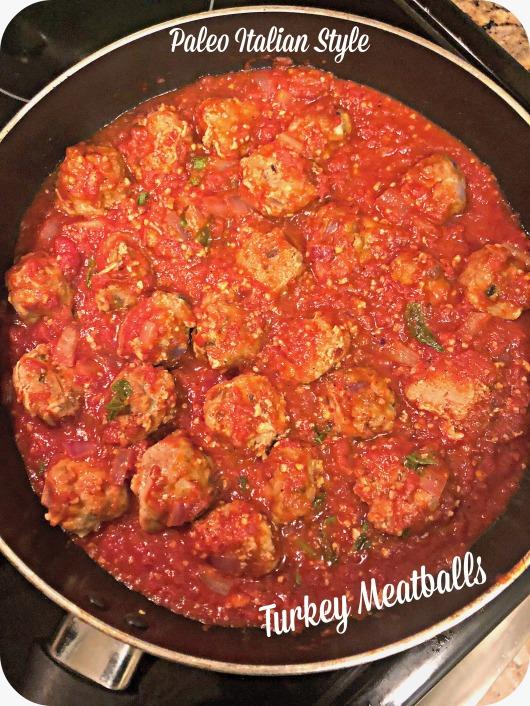 Paleo Italian Style Turkey Meatballs